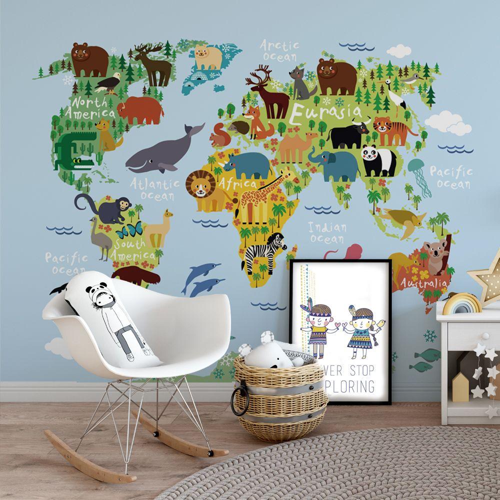 Adesivo Mapa Mundi Infantil Na Stickeria -> Adesivo Para Fotos