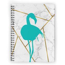 Caderno Flamingo Turquesa